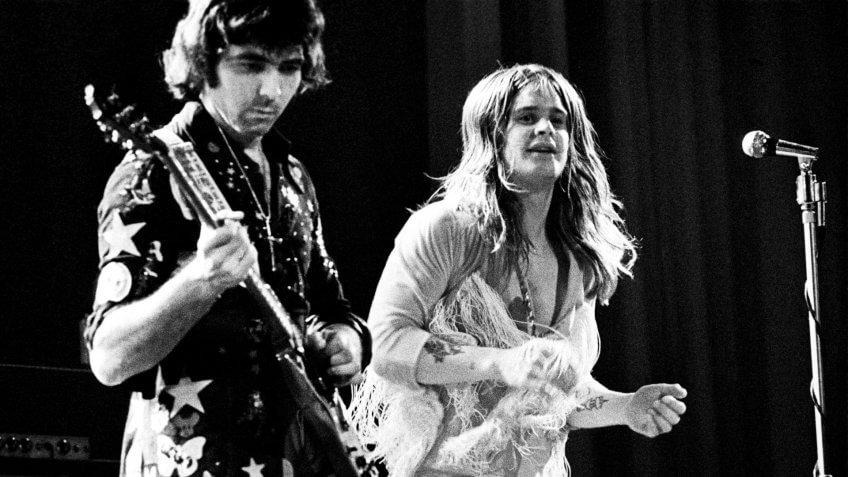 Mandatory Credit: Photo by Ian Dickson/Shutterstock (750517gv)Black Sabbath - Tony Iommi and Ozzy OsbourneVarious.