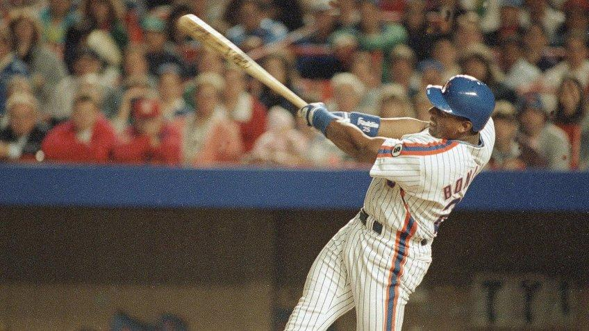 Mandatory Credit: Photo by Osamu Honda/AP/Shutterstock (6563489a)New York Mets Bobby Bonilla busts out of his hitting slump with this swing, to gave him a grand slam against the San Francisco Giants in the second inning, at New York's Shea Stadium.