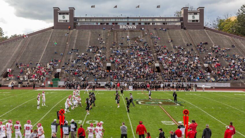 Brown plays Cornell, Oct 20, 2018 at Brown Stadium.