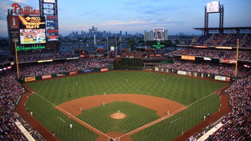 PHILADELPHIA - SEPTEMBER 7: Citizens Bank Park is the home of the National League's Phillies, on September 7, 2010 in Philadelphia.