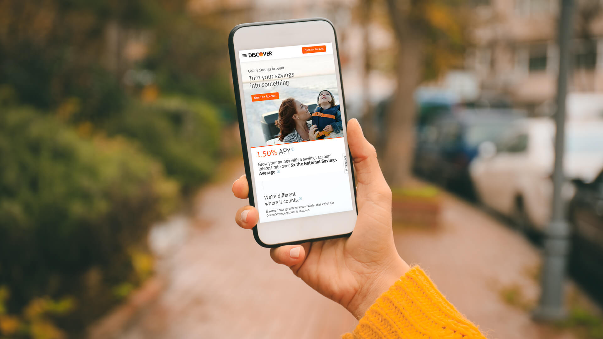 Discover Savings Account mobile