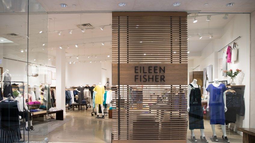 Philadelphia, Pennsylvania, May 30 2018:Eileen Fisher store front in Philadelphia.