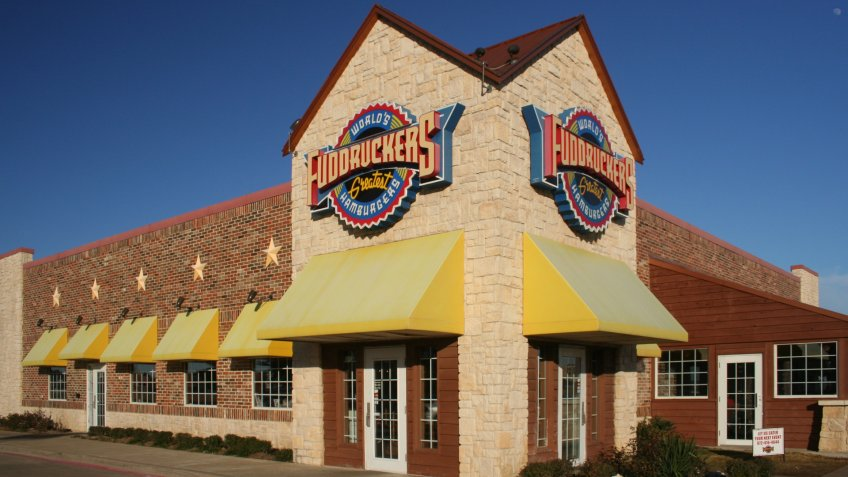Grapevine, TX - January 5, 2012: Fuddruckers Hamburgers chain restaurant located in Grapevine, TX.
