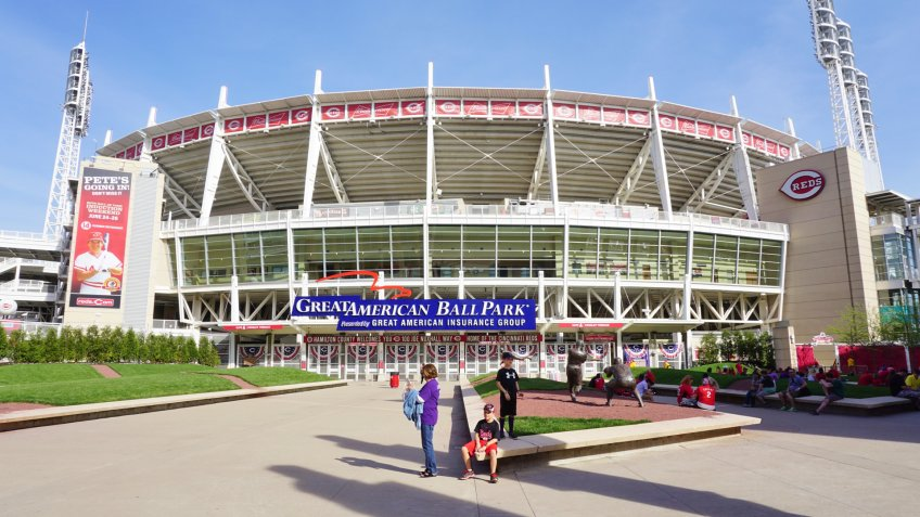 CINCINNATI, OH -20 APRIL 2016- The Great American ballpark stadium is the home of the Major League Baseball Cincinnati Reds team.