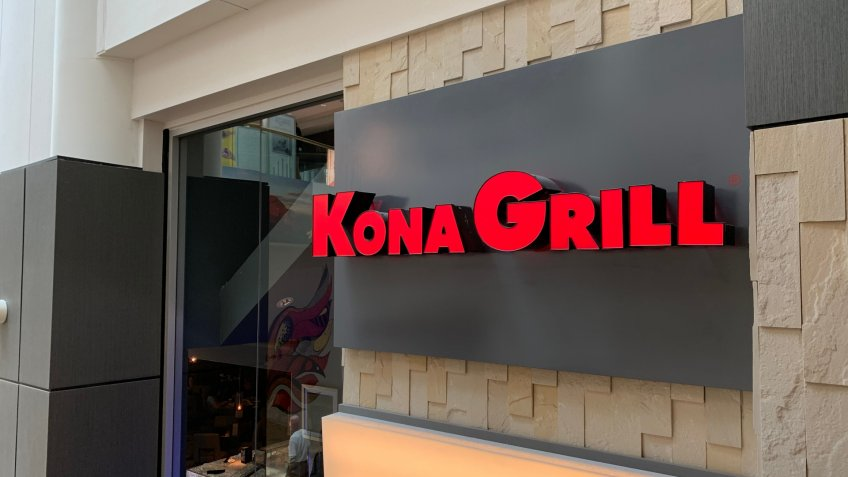 Phoenix, Arizona, June 2, 2019: Kona Grill Sign Outside if Scott's Fashion Square.