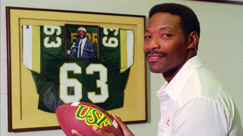 Mandatory Credit: Photo by Karen Fletcher/AP/Shutterstock (6521897a)SELMON Former Tampa Bay Buccaneers defensive end Lee Roy Selmon, shown in this photo in his office at the University of South Florida in Tampa, Fla.