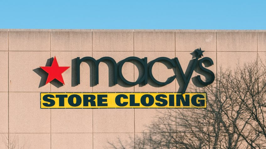 West Dundee, IL / USA - 02/22/20: Macy's Store Closing.