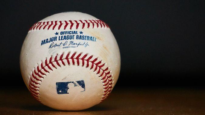 South Tyrol, Italy - May 20 2019: Used Major League Baseball (MLB) Baseball.