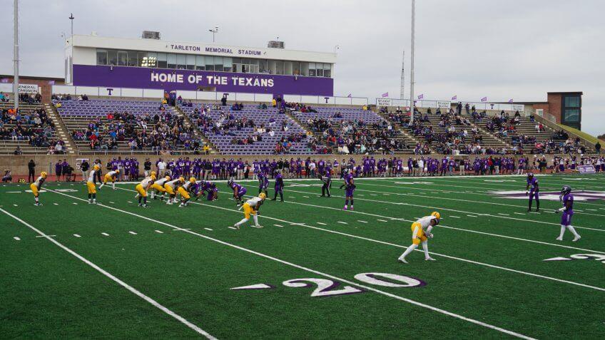 Memorial Stadium in Stephenville, Texas