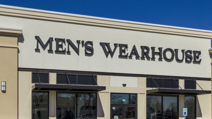 Muncie - Circa March 2017: The Men's Wearhouse Retail Strip Mall Location.