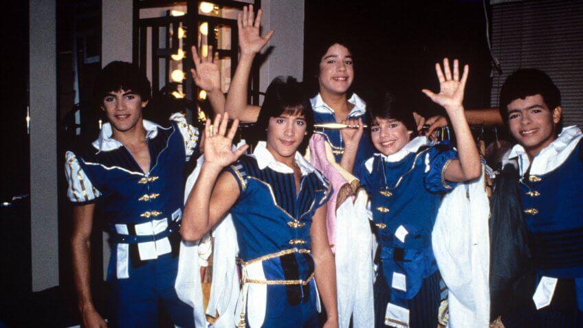 Mandatory Credit: Photo by Globe Photos/Shutterstock (111621a)MenudoMenudo backstage preparing for a show, New York, America - 1984.