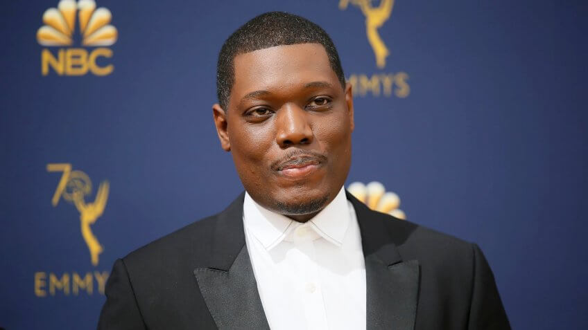 Mandatory Credit: Photo by Danny Moloshok/Invision/AP/Shutterstock (9885544p)Michael Che70th Primetime Emmy Awards - Arrivals, Los Angeles, USA - 17 Sep 2018.