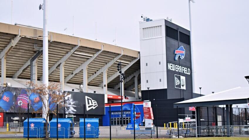 Orchard Park, New York/USA - January 7, 2020: New Era Field Home of Buffalo Bills Football Team.