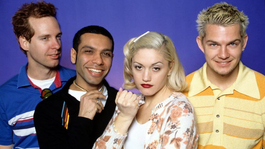 Mandatory Credit: Photo by Pat Pope/Shutterstock (269793g)Tom Dumont, Tony Kanal, Gwen Stefani and Adrian Young.