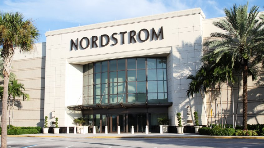 West Palm Beach, Florida, USA - September 7, 2011: This image shows a Nordstrom retail store at a suburban shopping mall.
