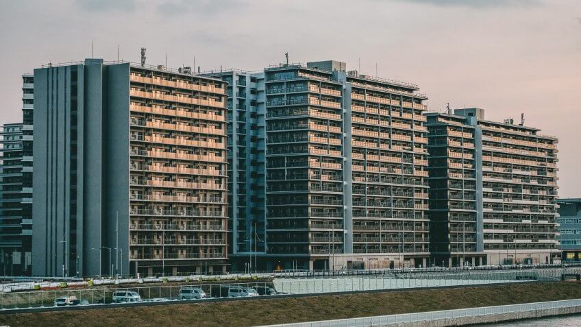 Mandatory Credit: Photo by Viola Kam/SOPA Images/Shutterstock (10605567f)General view of the Olympic Village which is purposely built to accommodate the athletes participating in the 2020 Tokyo Olympic.