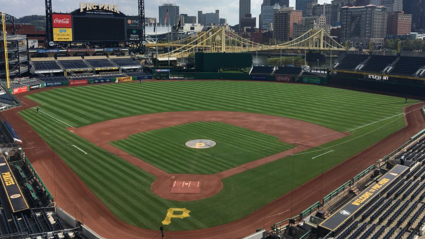 Pittsburgh,PA/United States - September, 27, 2017: Pirates Stadium PNC Park with the City of Pittsburgh in the Background.