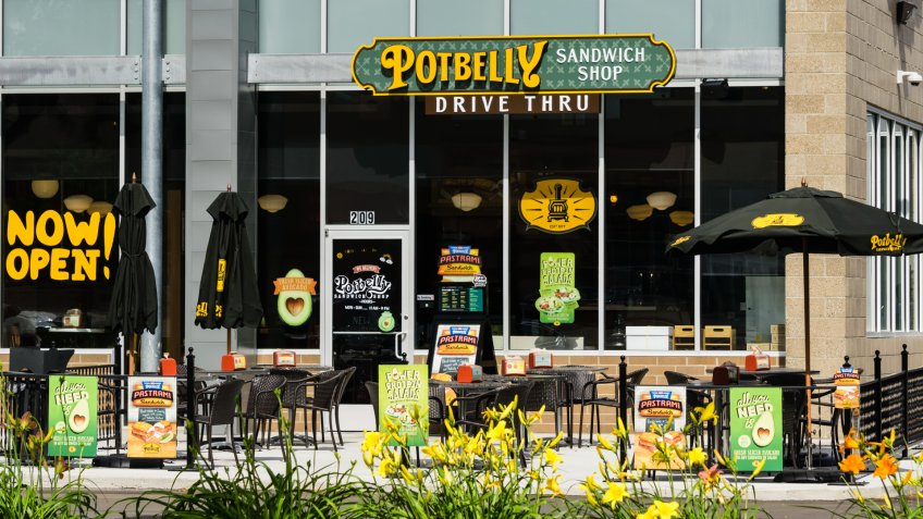 Rochester Hills, Michigan, USA - July 8, 2016: A Potbelly Sandwich Shop.