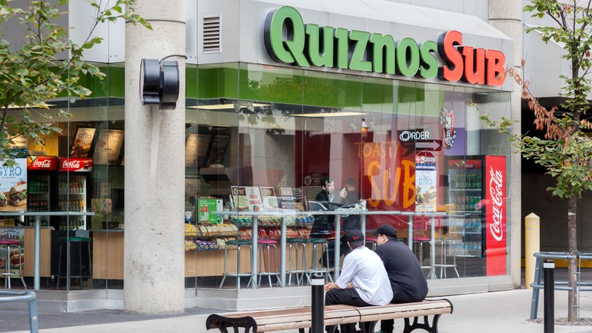 Toronto, Canada - Oct 13, 2017: Quiznos Sub fast food restaurant in the city of Toronto.