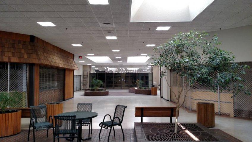 Rapids Mall — Wisconsin Rapids, Wisconsin facing entrance doors.