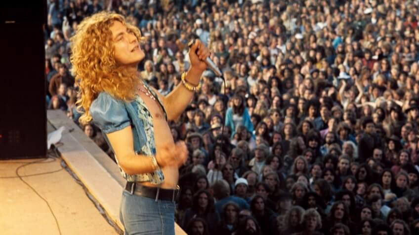 Mandatory Credit: Photo by Barry Peake/Shutterstock (51372a)Led Zeppelin - Robert PlantVarious.
