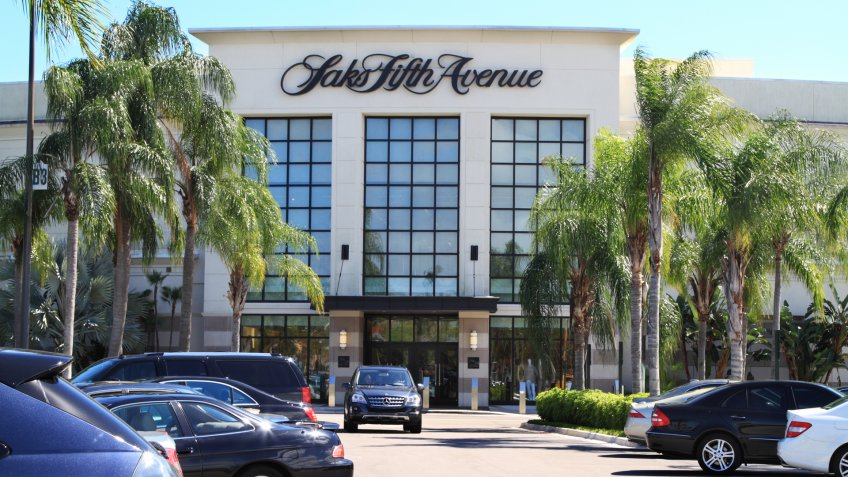 """""""West Palm Beach, USA - March 13, 2012: This is a view of a Saks Fifth Avenue retail store at a shopping mall in South Florida."""