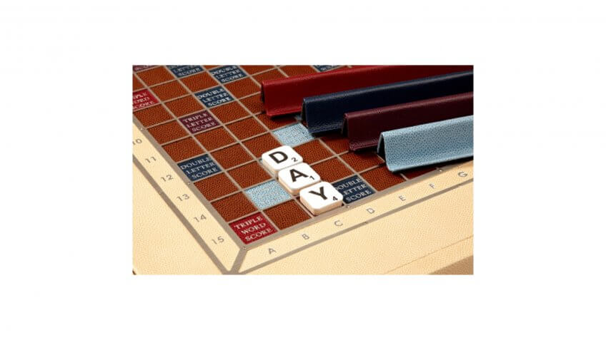 Scrabble Set in Leather - Magnolia - Zontik