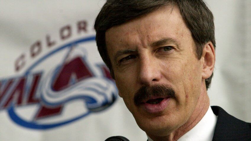 Mandatory Credit: Photo by Ed Andrieski/AP/Shutterstock (6480844b)KROENKE Stan Kroenke talks about his purchase of the Denver Nuggets, the Colorado Avalanche and the Pepsi Center during a news conference in Denver, on .