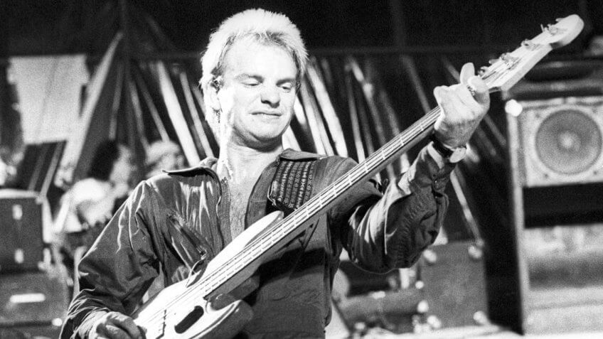 Mandatory Credit: Photo by Ian Dickson/Shutterstock (9010536b)The Police - StingThe Police in concert, Mont de Marsan 2nd Punk Festival, France - 05 Aug 1977.