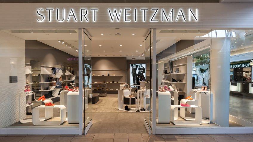 Toronto, Canada - February 12, 2018: Stuart Weitzman storefront in Bayview Village.