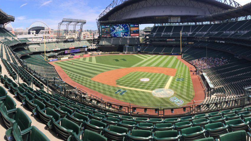 Seattle, Washington/United States - August 17, 2017 : Seattle Mariners Stadium Safeco Field, Now Named T-Mobile Park.