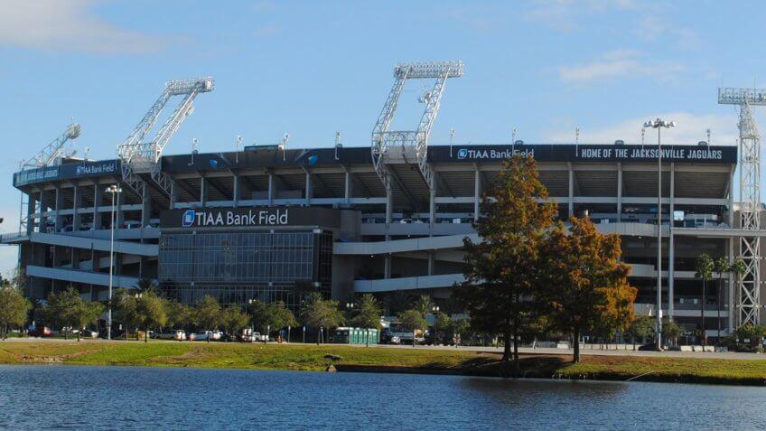 TIAA Bank Field in Jacksonville, Florida