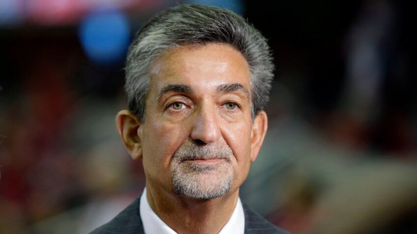 Mandatory Credit: Photo by Alex Brandon/AP/Shutterstock (6798557h)Ted Leonsis Ted Leonsis, majority owner and CEO of Monumental Sports & Entertainment, which owns and operates the Washington Capitals, Washington Wizards, and Washington Mystics, waits for an interview before an NHL hockey game against the Calgary Flames, in WashingtonCalgary Capitals Hockey, Washington.