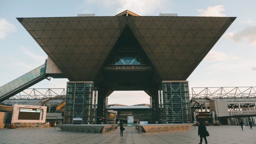 Mandatory Credit: Photo by Jae C Hong/AP/Shutterstock (10522302e)Tokyo International Exhibition Center, also known as Tokyo Big Sight, is seen, in Tokyo.