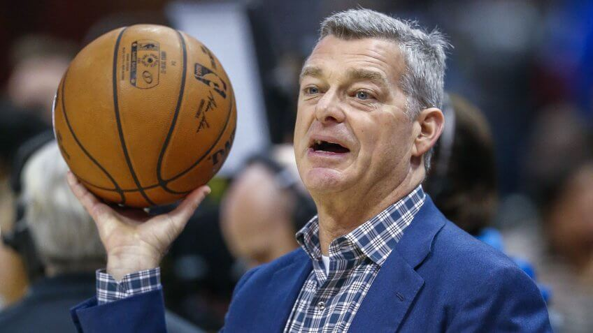 Mandatory Credit: Photo by Erik S Lesser/EPA/Shutterstock (7868786y)Tony ResslerBoston Celtics at Atlanta Hawks, USA - 13 Jan 2017Atlanta Hawks co-owner Tony Ressler during the first half of the NBA basketball game between the Boston Celtics and the Atlanta Hawks at Philips Arena in Atlanta, Georgia, USA, 13 January 2017.