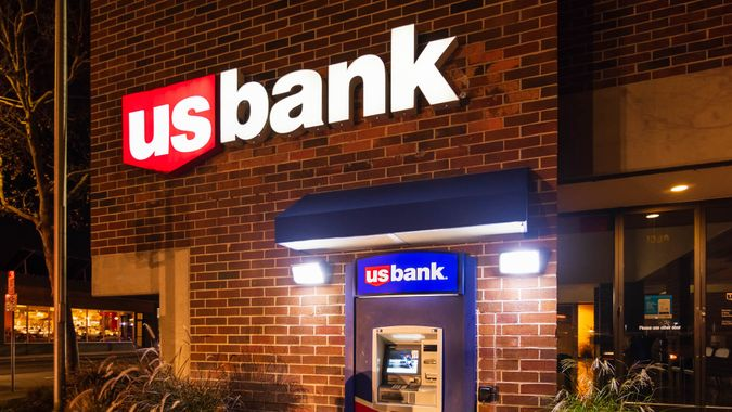Dec 21, 2019 San Jose / CA / USA - US Bank branch located South San Francisco Bay Area; U.