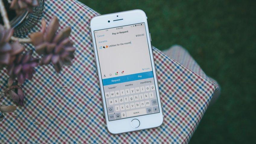 Venmo payment app.