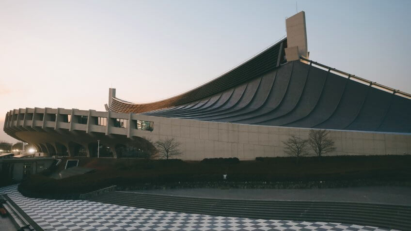 Mandatory Credit: Photo by Jae C Hong/AP/Shutterstock (10522302z)Yoyogi National Stadium, a venue for handball at the Tokyo 2020 Olympics, is shown, in TokyoOlympics 2020 Venues, Tokyo, Japan - 10 Jan 2020.