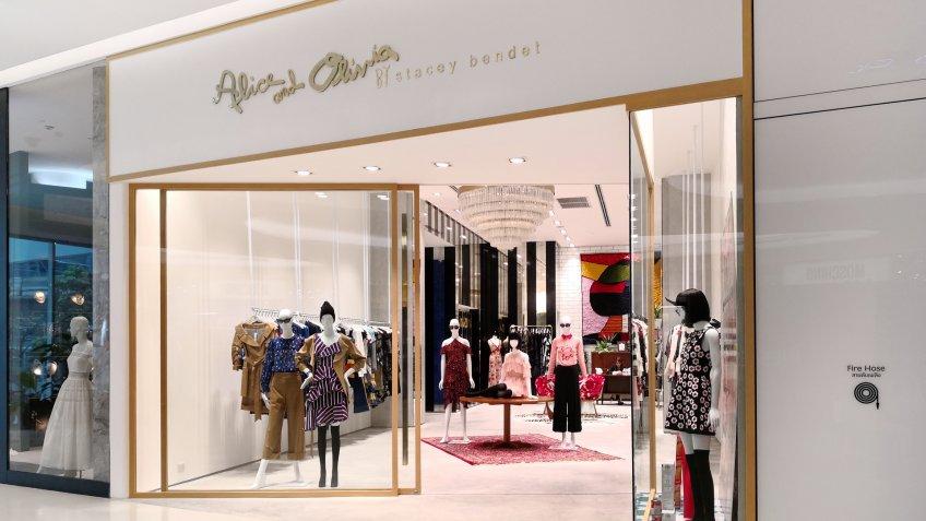 BANGKOK, THAILAND - 14 FEB 2018: Alice & Olivia fashion boutique at shopping mall.