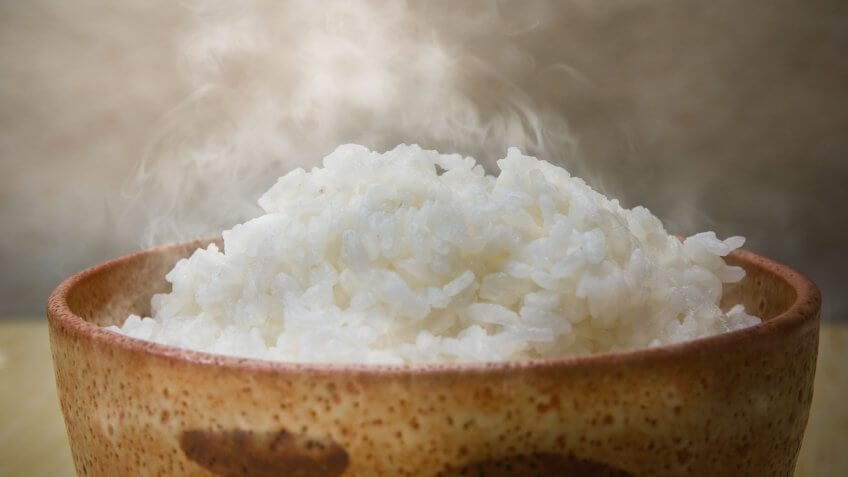 Rice is a staple food in Japan, and in most cases it is often eaten with a combination of rice, side dishes and miso soup.