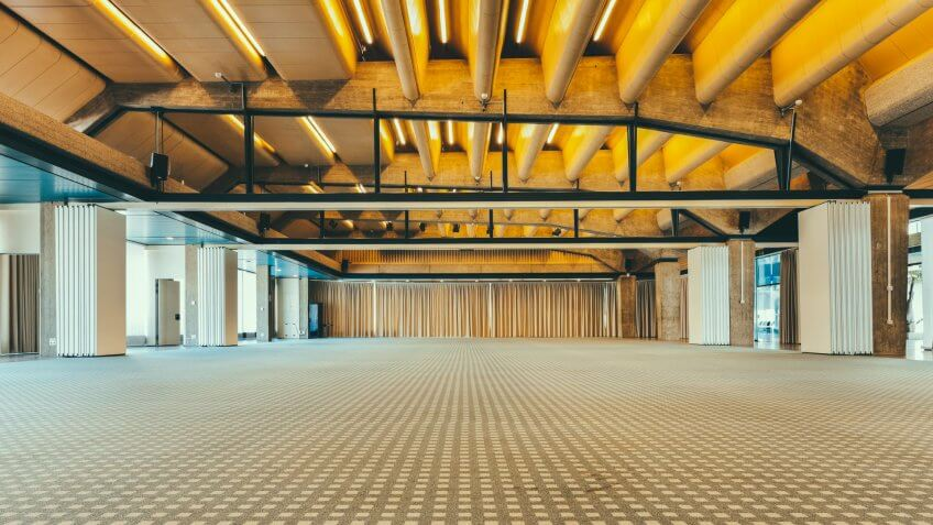 interior of a conference hall.