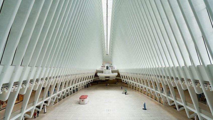 empty oculus in new york city