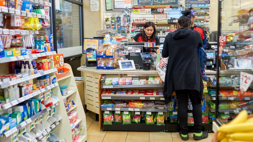 NEW YORK - CIRCA MARCH 2016: inside of 7-Eleven shop.