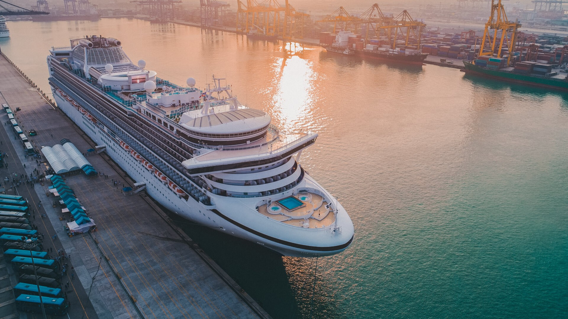 Cruise passengers ship berthing in the port services to the passenger sailing to destination port, restriction quarantine healthcare to all berthing ports.