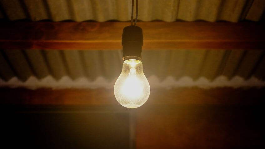 An old incandescent bulb.