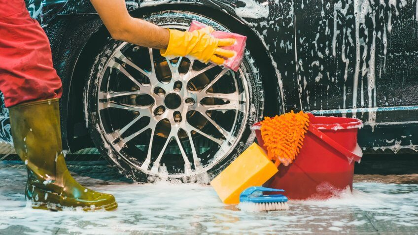 washing brand new car