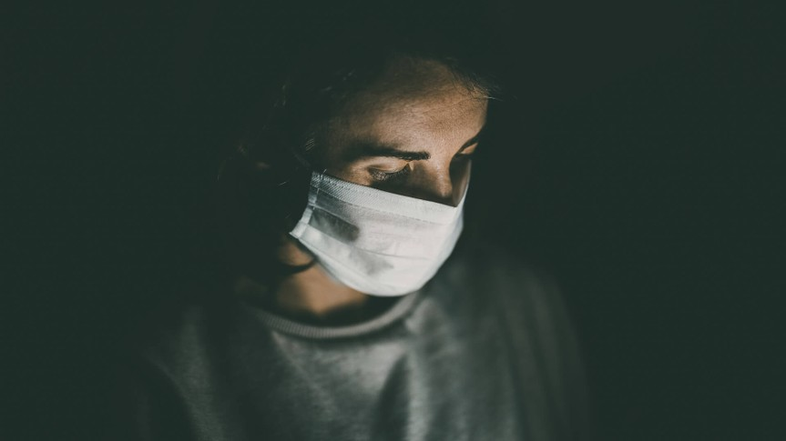 woman with face mask during coronavirus