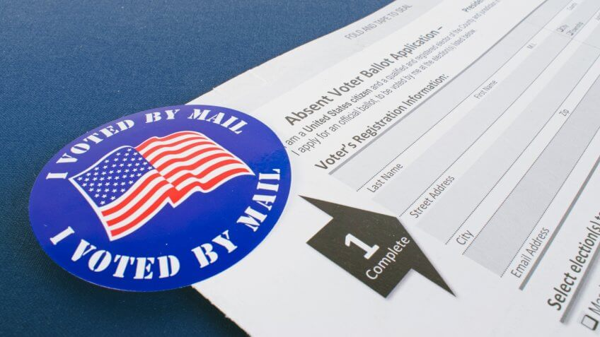 Absent voter ballot application.