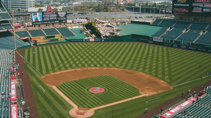 Angel Stadium of Anaheim baseball park
