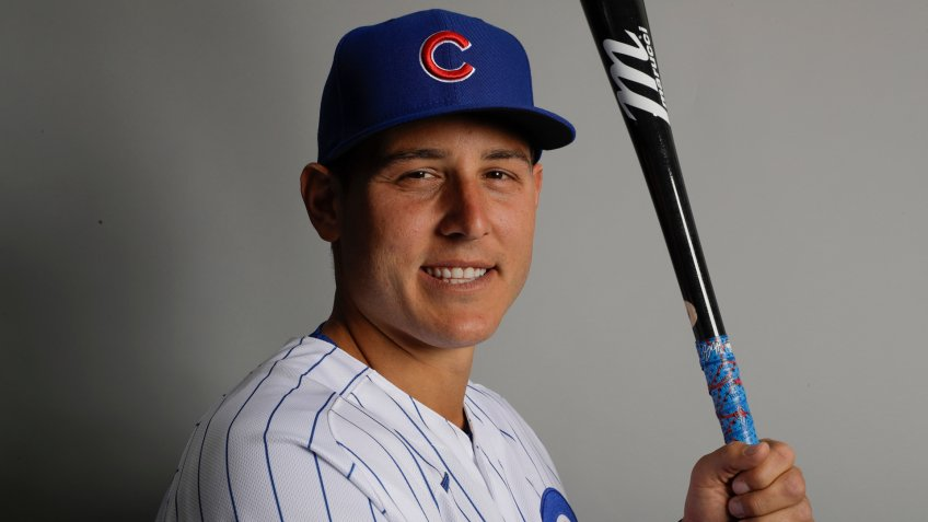 Mandatory Credit: Photo by Gregory Bull/AP/Shutterstock (10560850an)This is a 2020 photo of Anthony Rizzo of the Chicago Cubs baseball team.